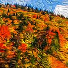 Autumn's Quilt: the Blue Ridge Parkway Mountains #art #decor #mountains #blueridgeparkway #fall #autumn by Jacqueline Cooper