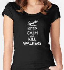 KEEP CALM AND KILL WALKERS Women's Fitted Scoop T-Shirt