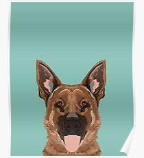 Skylar - German Shepherd gifts for dog people dog lover gifts german shepherd owners perfect gifts Poster