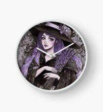 Lavendel Hexe Uhr