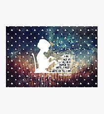 Jane Austen Writing Quote Photographic Print