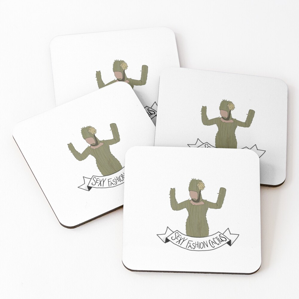 Crazy Ex Girlfriend Sexy Fashion Cactus Coasters (Set of 4)