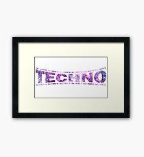 I love Techno electro club rave goa bass bpm Framed Print