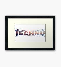 I love Techno electro club rave goa bass dub dance Framed Print