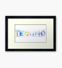 I love Techno electro club rave goa bass dub hard Framed Print