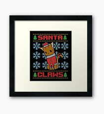 Santa Paws Ugly Christmas Sweater Framed Print