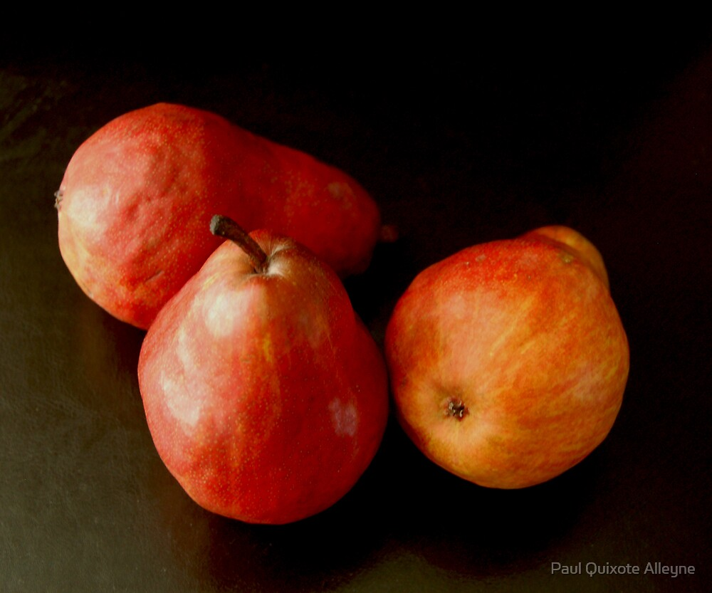 Trois poires rouges (Three Red Pears) by Paul Quixote Alleyne
