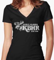 OK Bear Women's Fitted V-Neck T-Shirt