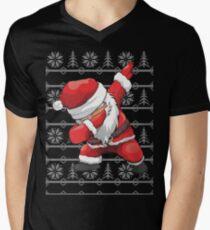 Funny Dabbing Santa Ugly Design Men's V-Neck T-Shirt