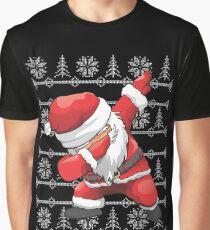 Funny Dabbing Santa Ugly Design Graphic T-Shirt