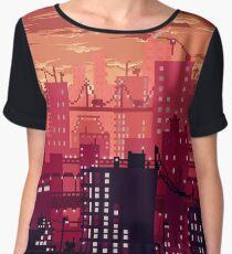 City Sunset Women's Chiffon Top