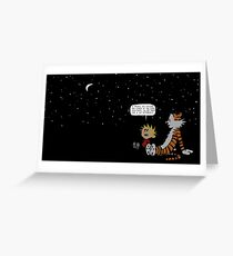 Calvin and Hobbes Night Sky Greeting Card