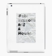 Community #SixSeasonsAndAMovie  iPad Case/Skin