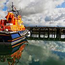Always on standby - Newlyn lifeboat by Sue Purveur