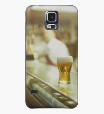 Glass of beer in Spanish tapas bar square Hasselblad medium format  c41 color film analogue photograph Case/Skin for Samsung Galaxy