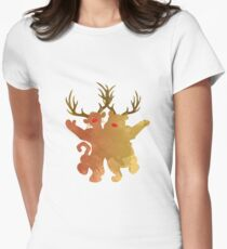 Christmas Friends Inspired Silhouette Women's Fitted T-Shirt
