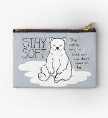"""Stay Soft"" Polar Bear Studio Pouch"