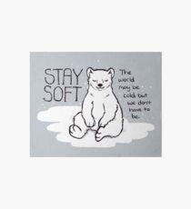 """Lámina de exposición Oso polar """"Stay Soft"""""""