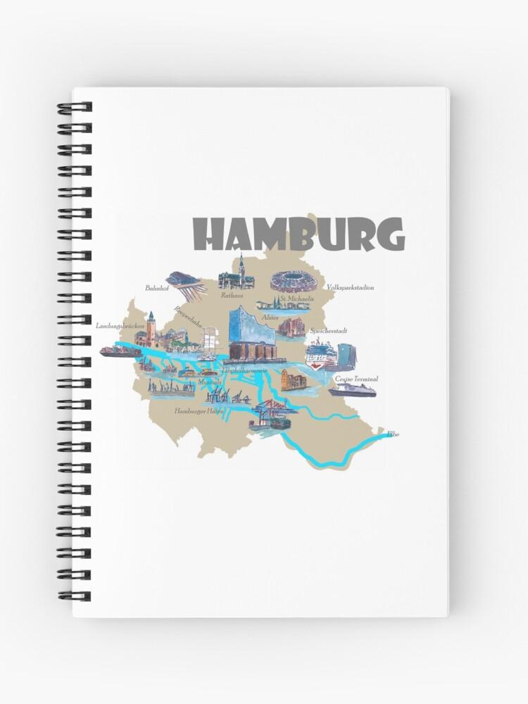 Hamburg Karte Sehenswurdigkeiten.Hamburg Highlights Sehenswurdigkeiten Karte Spiralblock