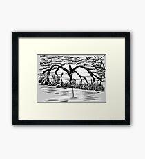 Stranger Things Monster Framed Print