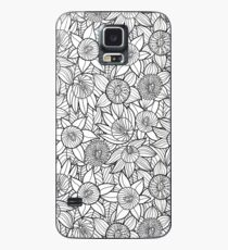 Linear Floral Pattern  Case/Skin for Samsung Galaxy