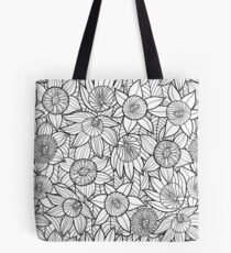 Linear Floral Pattern  Tote Bag