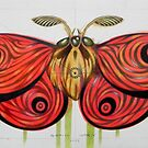 Big red moth by federico cortese