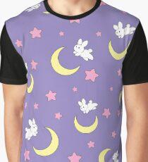 Camiseta gráfica Conejo de la luna