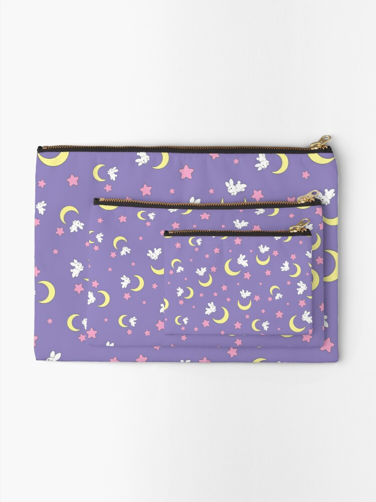 Alternate view of Rabbit of the Moon Zipper Pouch