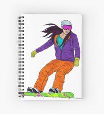 Snowboarder girl Spiral Notebook