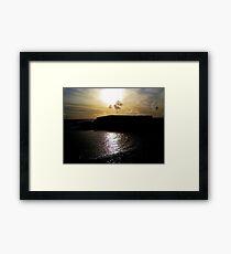 Dusk light on the Sea :)  Framed Print