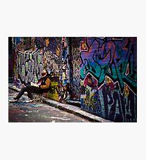 Alley life - Graffiti  Melbourne Photographic Print