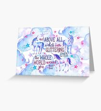 Unicorn Roald Dahl Quote Greeting Card