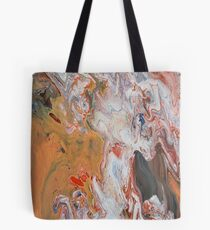 Acrylic Paint Dirty Pour Abstract Design Tote Bag