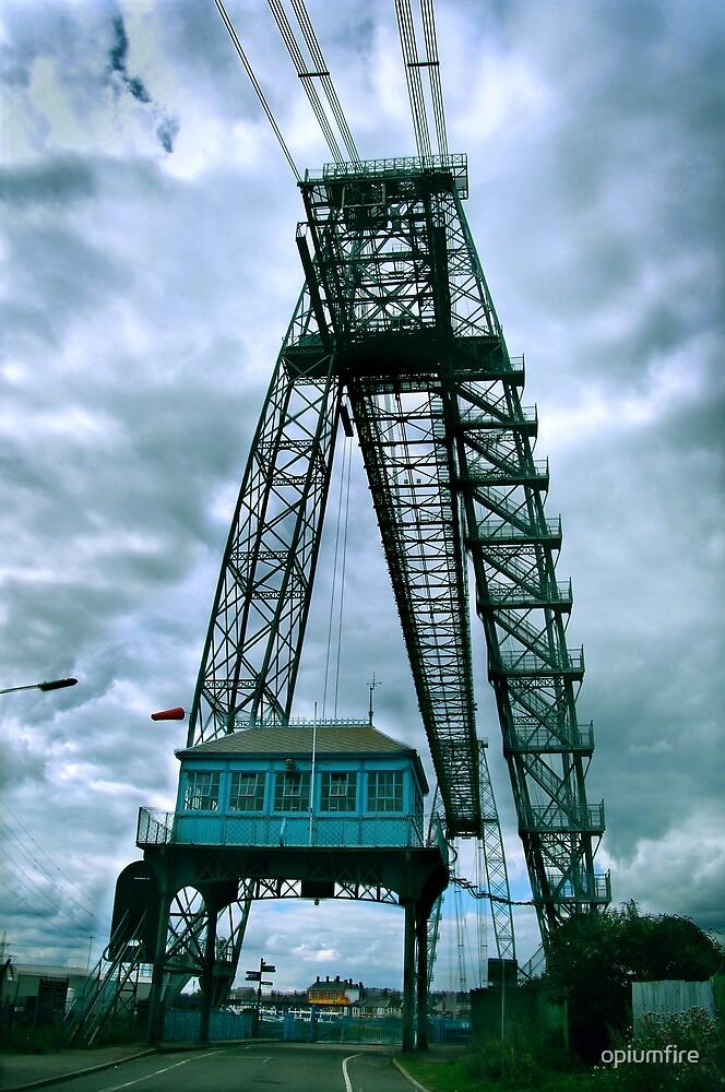 newport transporter bridge eastside by opiumfire