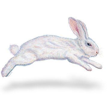 Fluffy White Rabbit by vivasweetlove