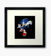 Sonic The Hedgehog Modern Framed Print