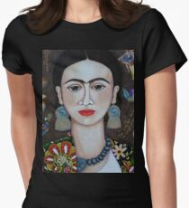 Frida thoughts  Women's Fitted T-Shirt