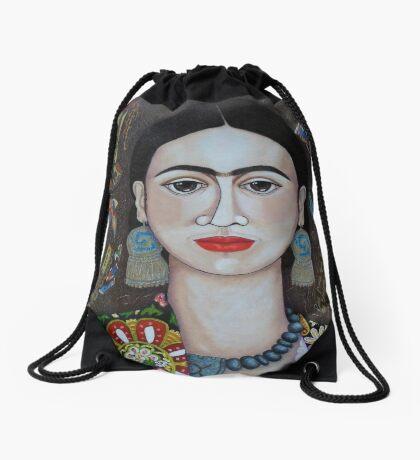 Frida thoughts  Drawstring Bag