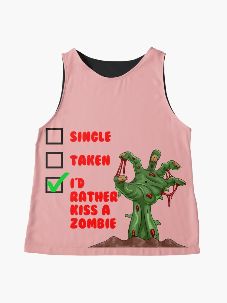 Alternate view of Funny Zombie tshirt Sleeveless Top