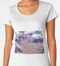 Canyons and Clouds - Aerial Nature Abstract - Nature Geek Chic Women's Premium T-Shirt