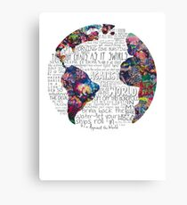Us Against The World Canvas Print