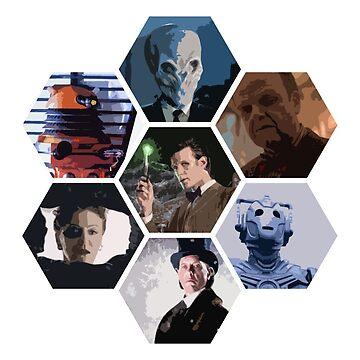 Eleventh Doctor & foes by DrFrankenbaum