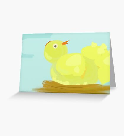 Fluffy Chick Greeting Card