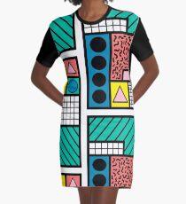 80's Memphis Graphic T-Shirt Dress