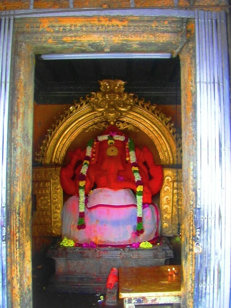 red elephant god by pugazhraj