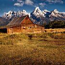 Morman Row Barn - Grand Tetons National Park, Wyoming by Kathy Weaver