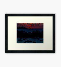 Lámina enmarcada Puesta de sol