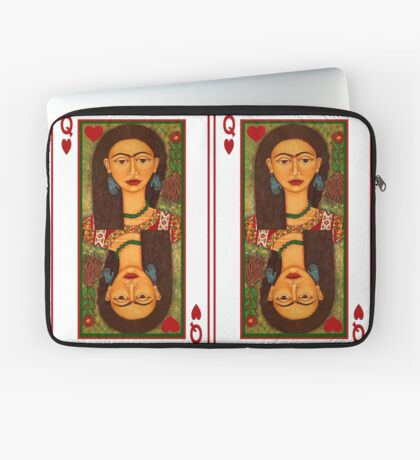 Frida Kahlo, reina de corazones Laptop Sleeve
