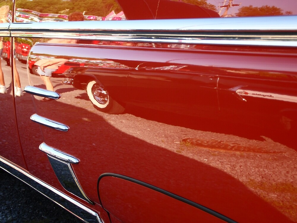 Old car reflection 2 by Karl Rose